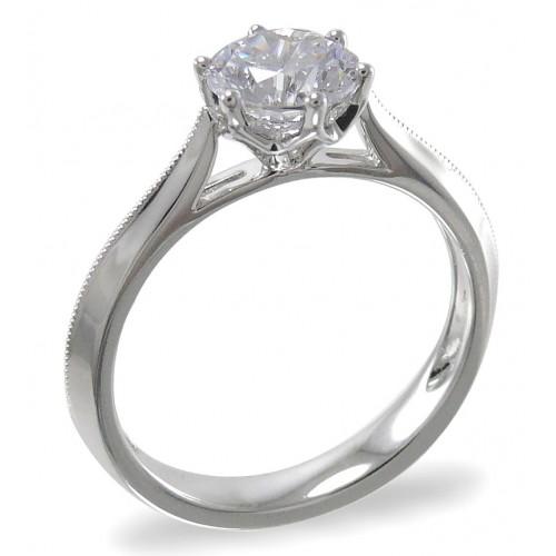 18K White Gold Diamond Ring Mounting